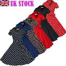 Vintage Womens 50s Rockabilly Pinup Dress Swing Evening Party Prom Collection