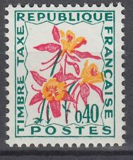 FRANCE TIMBRE TAXE NEUF N° 100 **  fleurs des champs ancolie