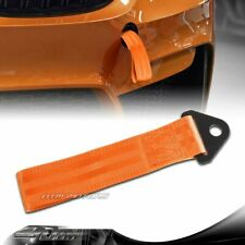 High Strength Orange Racing Tow Towing Strap Hook Front Rear Bumper Universal