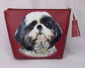 Contemporary Shi-Tzu Leather Zipper Bag