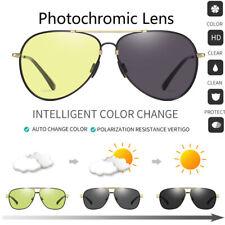 Photochromic Polarized Sunglasses Memory Metal Chameleon Discoloration Goggles