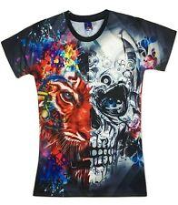 Tiger Terminator T-Shirt ( printed funny animal colourful festival print tee )