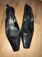 Size 5.5 wider fit, black sling back shoes from Marks and Spencer Ladies