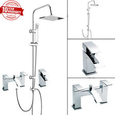 3 VIE tondo rigido Doccia Alzata Kit Miscelatore doccia bagno cascata rubinetto del bacino del rubinetto &