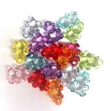 20 X Bright Colour Mixed Teddy Bear Charms Baby Shower Dummy Clips