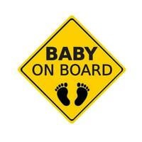 """baby On Board"" Warning Sticker Car Sticker Window Decoration Reflective K4V4"