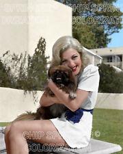 Lana Turner Hugging A Pekingese Dog Beautiful Color Photo By Chip Springer