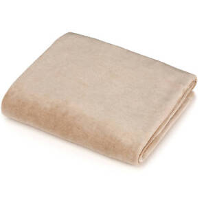 TL Care Fitted Velour Bassinet Sheet Made With Organic Cotton, Mocha NEW