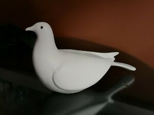 Rare Strawberry Hill Pottery Large White Sitting Dove Figurine Thunder Bay Ont