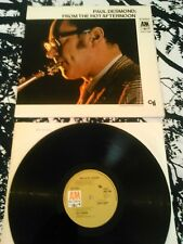 PAUL DESMOND - FROM THE HOT AFTERNOON LP N. MINT!!!! UK 1ST PRESS A&M NASCIMENTO