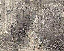 Monté Gravure c1838? Stirling Castle, T Allom/W Wallis-photos