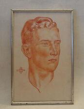 Wolfgang Willrich: Kopf eines Jünglings * original Rötelzeichnung auf Papier