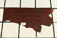 """Benedikt"" Brown Scrap Leather Hide Approx. 3.5 sqft. Q97W16-7"