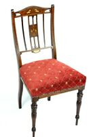 Maple & Co Edwardian Inlaid Mahogany Chair - FREE Shipping [5331A]