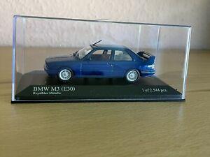 Minichamps BMW M3 (E30) blau 1:43 unbespielt limitiert Modellauto