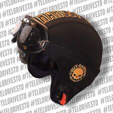 Casco Harley Davidson teschio skull logo Vintage retrò personalizzato in pelle