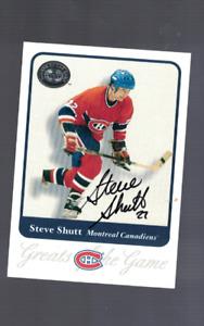 Steve Shutt Montreal Canadiens 2001 GOTG Signed Hockey Card W/Our COA