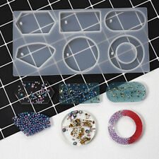 Silicone Mold Epoxy Resin Jewelry Sweater Chain Pendant Making Tool HoleUUDE