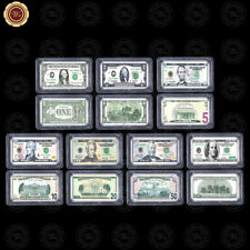 WR 99 SIlver Bar Sets of US Dollar Bill Note America Antique Print Gifts Teacher