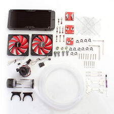 Water Cooling Kits 240 Radiator CPU GPU Block Pump Reservoir Tubing Fan Heatsink
