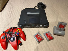 Nintendo 64 N64 Game Console System + Controller & Memory Cards