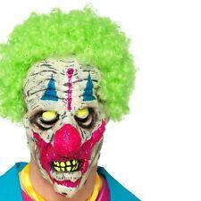 Hommes Carnaval Rampant UV Brille dans le Noir Masque Visage Tête avec Vert
