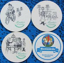 Bierdeckel Serie Martinsbräu Marktheidenfeld - komplett Martin's Leicht 1988