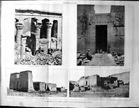 Old Builder 1894 Architecture Kalabshah Temple Philae Dakkeh Nubia So 19th