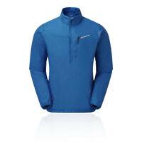 Montane Mens Prism Ultra Half Zip Jacket Top Blue Sports Outdoors Hooded Warm