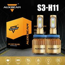 AUXBEAM H11 H9 H8 Turbo LED Headlight Bulbs Kit 72W CSP High/Low Beam 6500K F-S3
