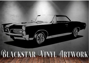 "1967 PONTIAC GTO LARGE DECAL WALL ART 23"" X 60"""