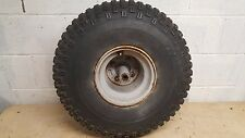 1985 HONDA BIG RED 250 FRONT WHEEL, HUB, BRAKE DRUM AND TIRE   #1