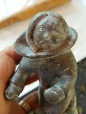 Vintage Inuit Stone Carving Sculpture Canada Eskimo Art Signed 5""
