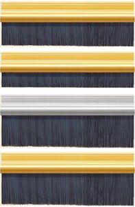 Bottom Door Draught Brush Strip Seals - 2.1m Long - UK Quality Draft Excluders