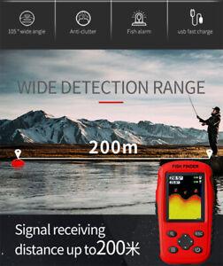 180M Wireless Smart Fish Finder Rechargeable Sonar Sensor Fishfinder Dot Matrix