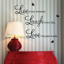 New Live Laugh Love Quote Vinyl Decal Removable Art Wall Stickers Home Decor New