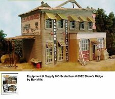 Bar Mills (HO-Scale) #532 Shaw's Ridge Equipment & Supply - Laser Cut Wooden Kit
