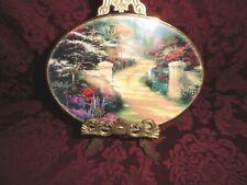 Thomas Kinkade Spring Gate - February - The Garden of Prayer Series 2001