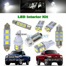 8x White LED Map Dome Light interior bulb package kit fit 1998-2011 fitd Ranger