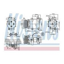 Fits Ford Focus C-Max 2.0 Genuine OE Quality Nissens A/C Air Con Compressor