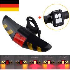 Fahrrad Rücklicht USB Wiederaufladbare Blinker Fahrradlampe Bremslicht + Remote