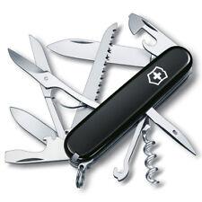 Victorinox Couteau suisse HUNTSMAN, Noir, Avec Gravure Gratuite