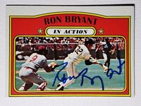 1972 Topps Ron Bryant In Action Auto Autograph Signed Card SF Giants #186