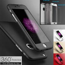 COVER CUSTODIA FRONTE RETRO + PELLICOLA VETRO TEMPERATO 360° Per Iphone 6 6s