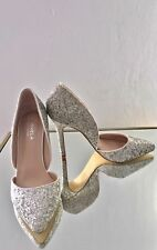 Kurt Geiger Carvela Lexi Silver High Heel Court Shoes Size 3 EU 36 RRP £110 NEW