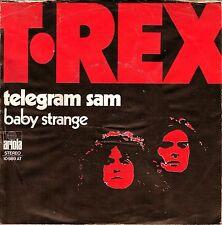 """7"""" T. Rex – Telegram Sam / Baby Strange / Ariola-Center Intact // Dutch 1972"""