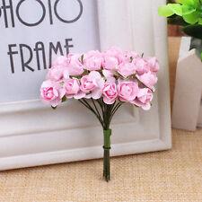 144PCS 1cm Head Artificial Paper Rose Flowers Bouquet Party Wedding Decoration
