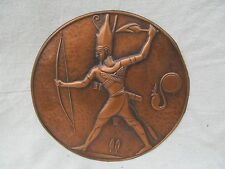 ARTS & CRAFTS STYLE COPPER EGYPTIAN REVIVAL WALL PLAQUE - A. GILLES