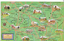 Map Postcard - Interesting Places in The Cotswolds    MB1845