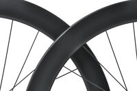 Full Carbon 55mm Tubeless Clincher Wheelset Disc Brake Rim Matt 700C Road Bike
